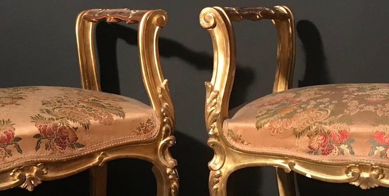 Pair of 19th Century Italian Window Benches or Settees For Sale 1