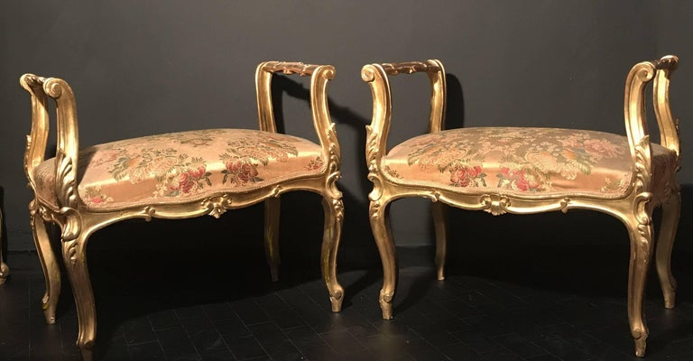 Pair of 19th Century Italian Window Benches or Settees For Sale 4