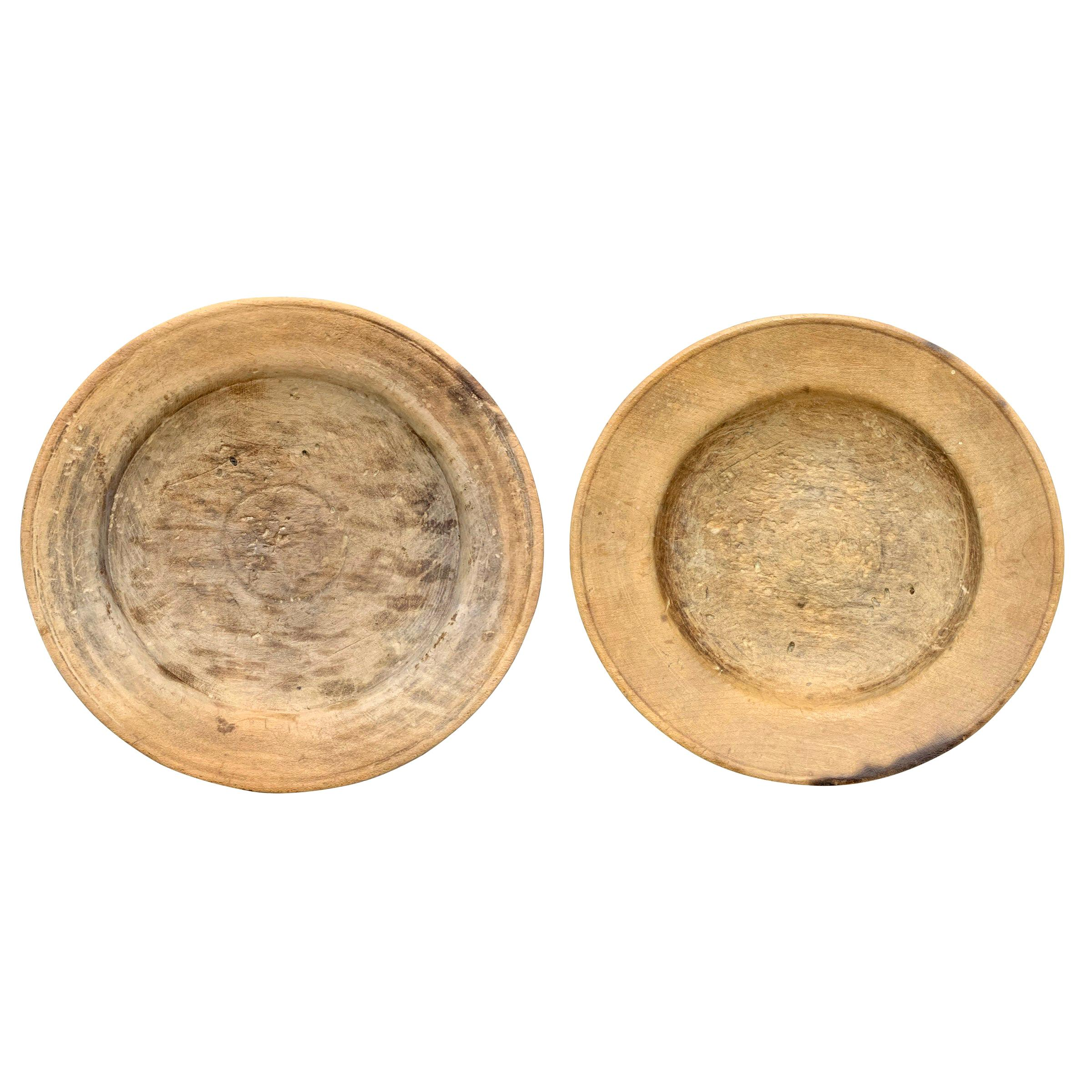 Pair of 19th Century Italian Wood Bowls