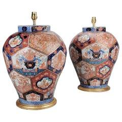 Pair of 19th Century Japanese Imari Table Lamps