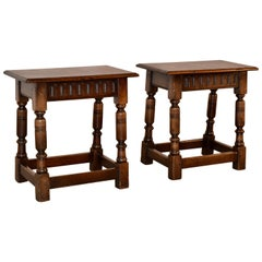 Pair of 19th Century Joint Stools from England