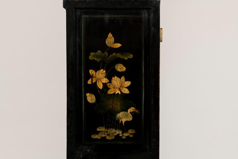 Pair of Early 20th Chinese Ming Style Painted Cabinets For Sale 13