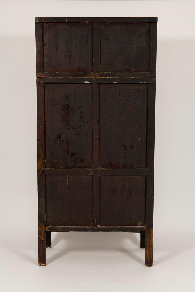 Early 20th Century Pair of Early 20th Chinese Ming Style Painted Cabinets For Sale