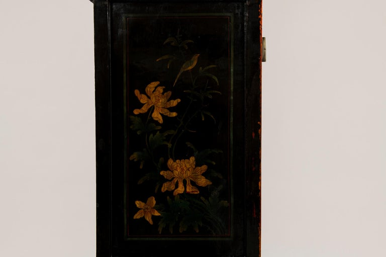 Elm Pair of Early 20th Chinese Ming Style Painted Cabinets For Sale