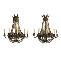 Pair of 19th Century Large Regency Style Sconces