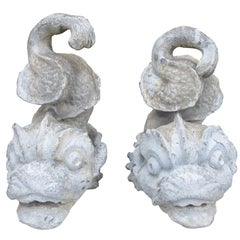 Pair of 19th Century Lead Dolphin Garden Ornaments