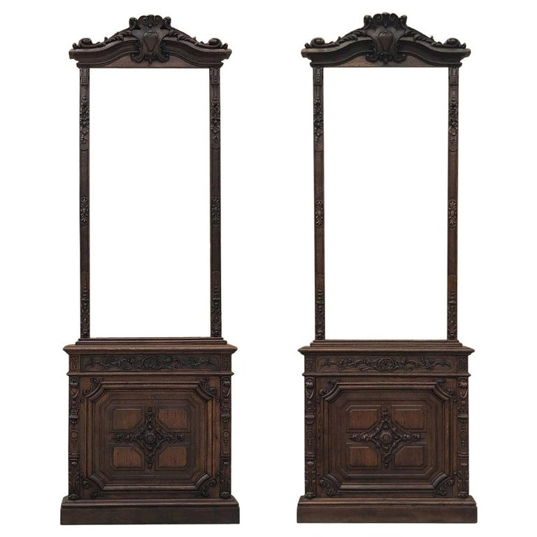 Pair of 19th Century Library, Bookcase Built-In Cabinets For Sale