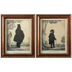 Pair of 19th Century Lithographs of Gentlemen