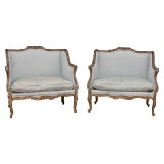 Pair of 19th Century Louis XV Style Giltwood Marquises