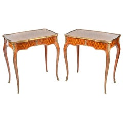 Pair of 19th Century Louis XVI Style Side Tables