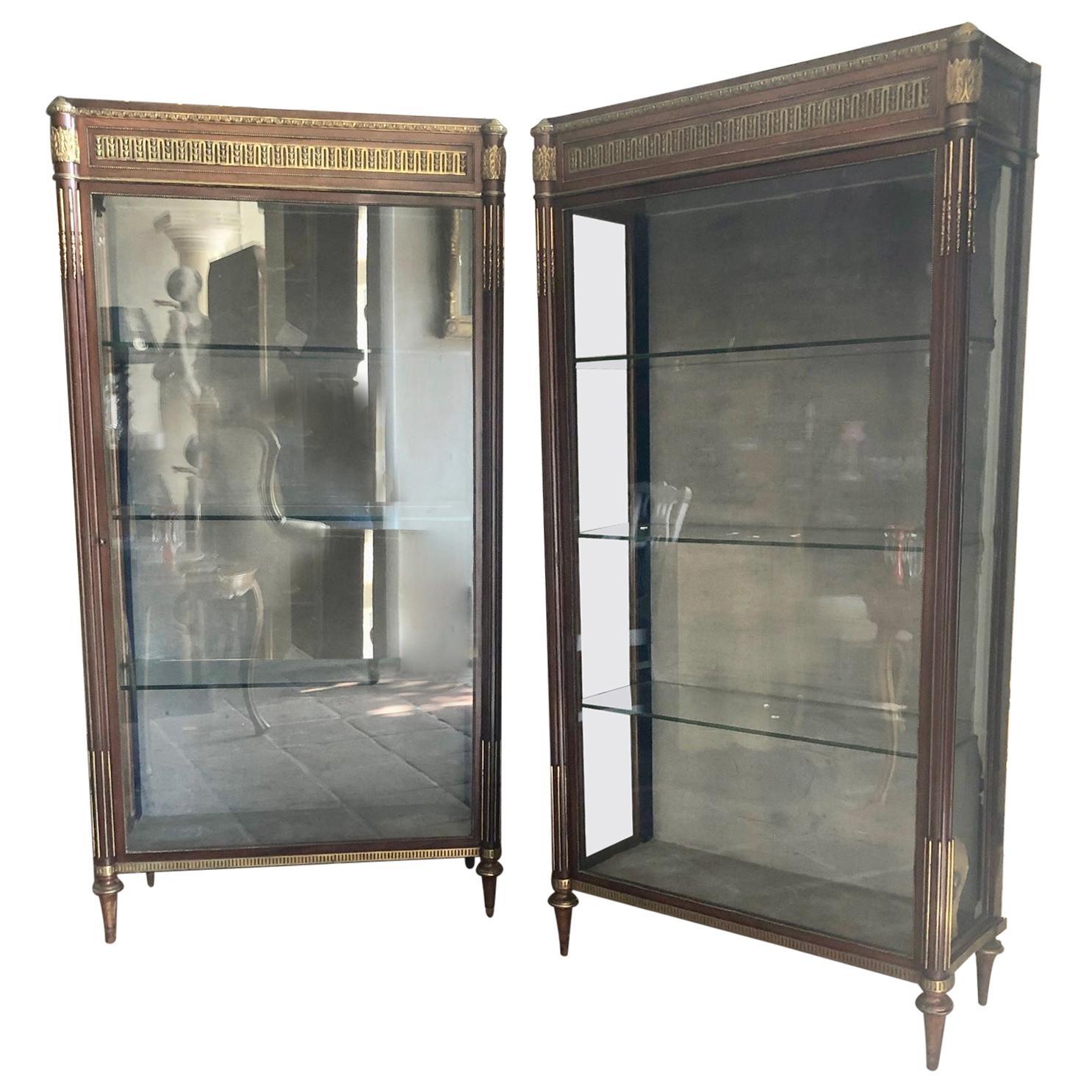 Pair of 19th Century Louis XVI Style Vitrines