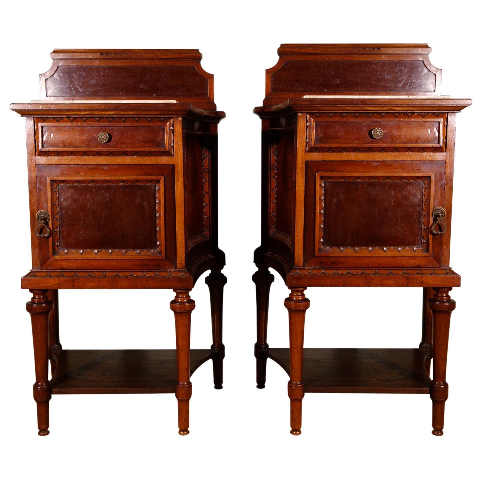 Pair of 19th Century Mahogany Nightstand
