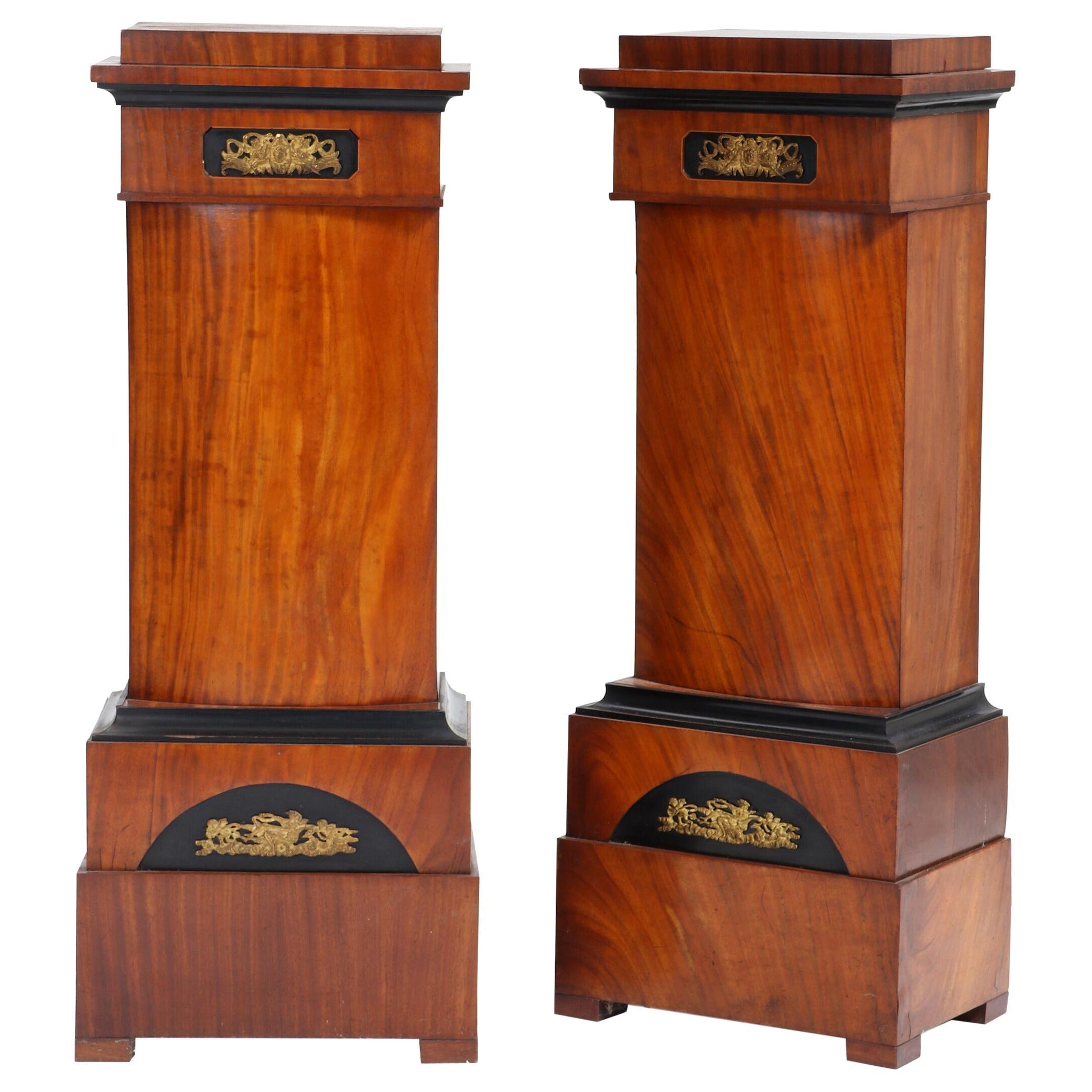 Pair of 19th Century Mahogany Pedestals