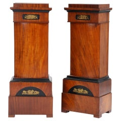 Pair of 19th Century Mahogany Pedestals