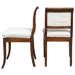 Pair of 19th Century Mahogany Regency Side Chairs