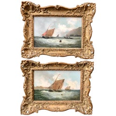 Pair of 19th Century Marine Paintings Attributed to George Knight