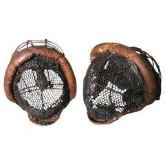 Pair of 19th Century Masques D'Escrime
