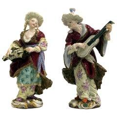 Pair of 19th Century Meissen Porcelain Orientalist Figures