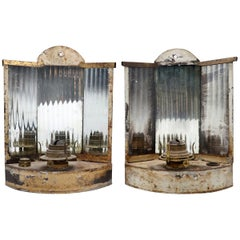 Pair of 19th Century Mirrored Reflector Sconces