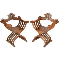 Pair of 19th Century Moorish Armchairs