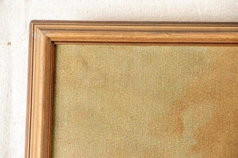 Pair of 19th Century Neoclassical Oil on Canvas Framed Panels For Sale 14