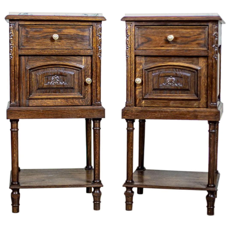 Pair of 19th Century Oak Nightstands