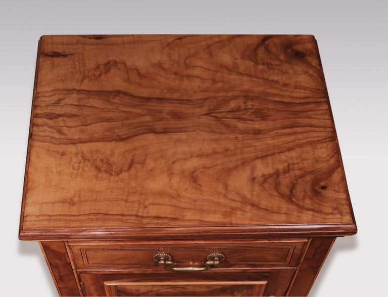 Inlay Pair of 19th Century Olivewood Bedside Cabinets For Sale