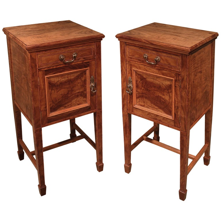 Pair of 19th Century Olivewood Bedside Cabinets For Sale