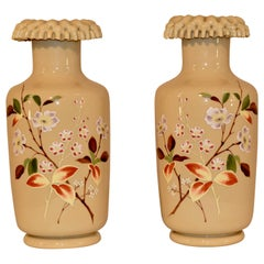 Pair of 19th Century Opaline Vases
