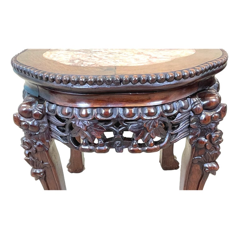 Chinese Pair of 19th Century Oriental Hardwood Coffee Tables For Sale