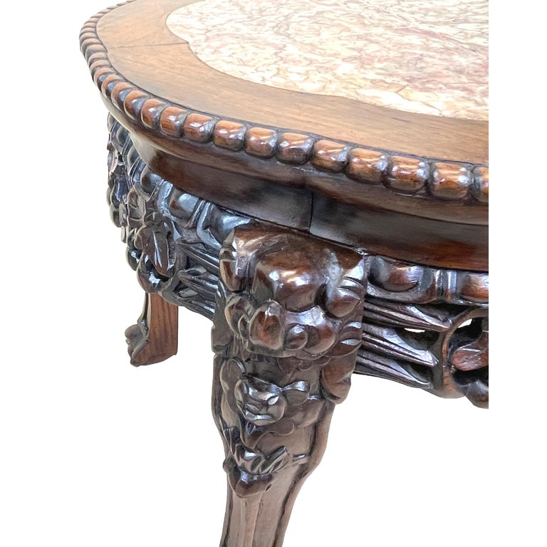 Pair of 19th Century Oriental Hardwood Coffee Tables For Sale 1