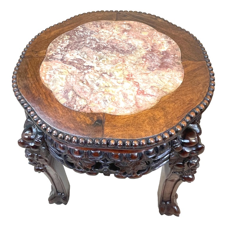 Pair of 19th Century Oriental Hardwood Coffee Tables For Sale 2