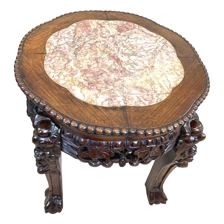 Pair of 19th Century Oriental Hardwood Coffee Tables For Sale 4