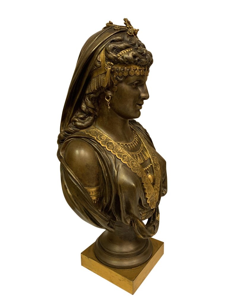 Pair of 19th Century Orientalist Bronze Busts For Sale 7