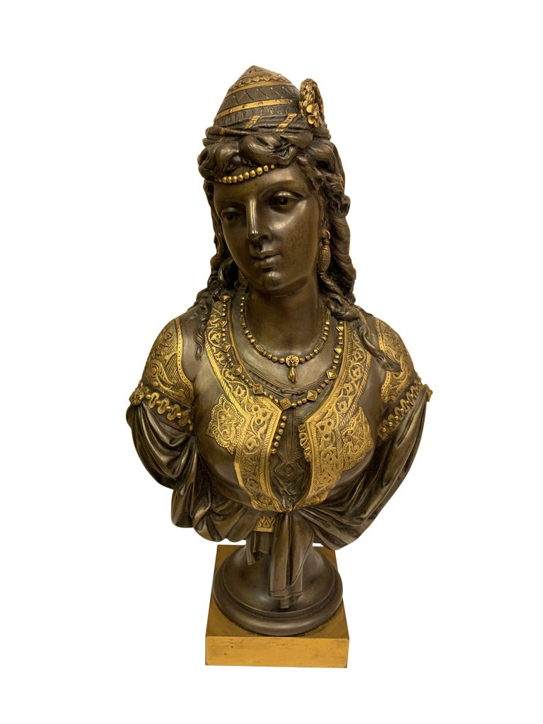 Pair of 19th Century Orientalist Bronze Busts For Sale 8