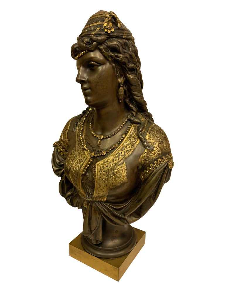 Pair of 19th Century Orientalist Bronze Busts For Sale 9