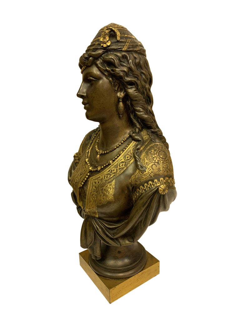 Pair of 19th Century Orientalist Bronze Busts For Sale 10