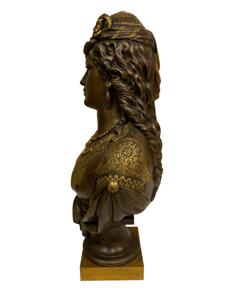 Pair of 19th Century Orientalist Bronze Busts For Sale 11