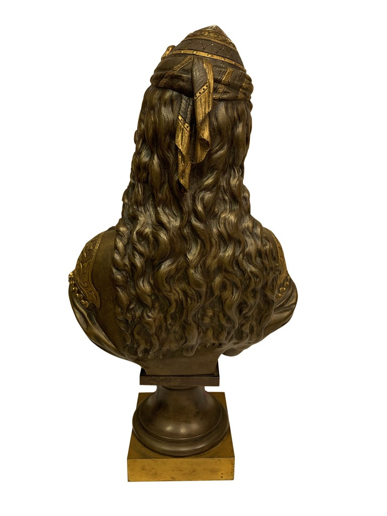 Pair of 19th Century Orientalist Bronze Busts For Sale 13