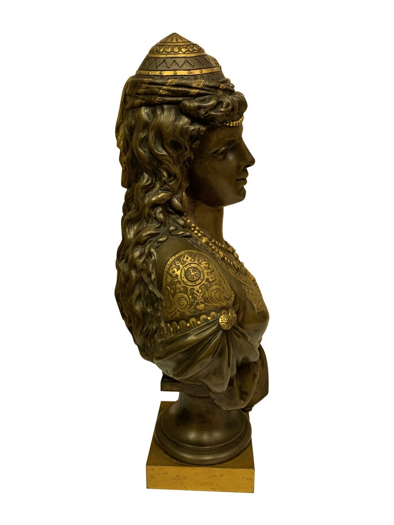 Pair of 19th Century Orientalist Bronze Busts For Sale 15