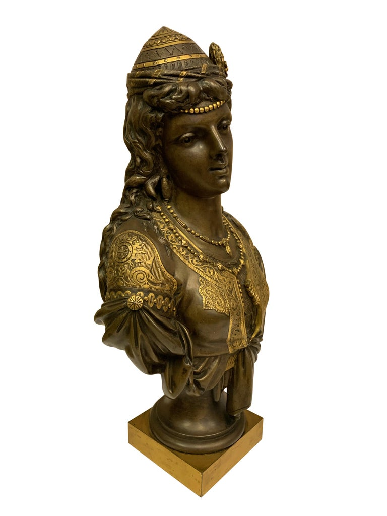 Pair of 19th Century Orientalist Bronze Busts For Sale 16