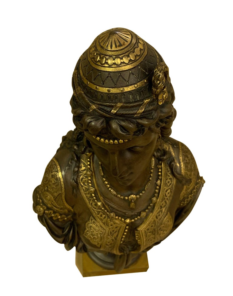 Pair of 19th Century Orientalist Bronze Busts For Sale 17
