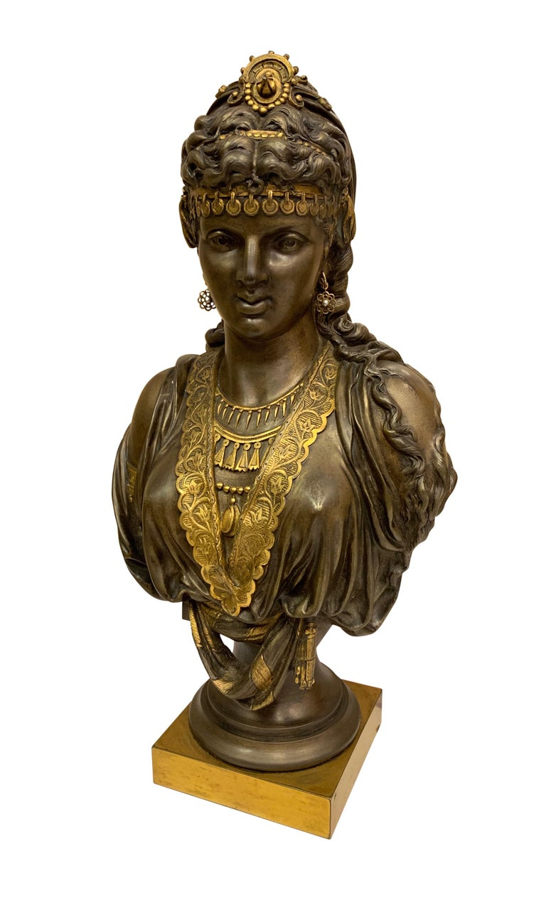 Pair of 19th Century Orientalist Bronze Busts In Excellent Condition For Sale In Los Angeles, CA