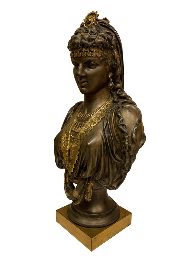Pair of 19th Century Orientalist Bronze Busts For Sale 1