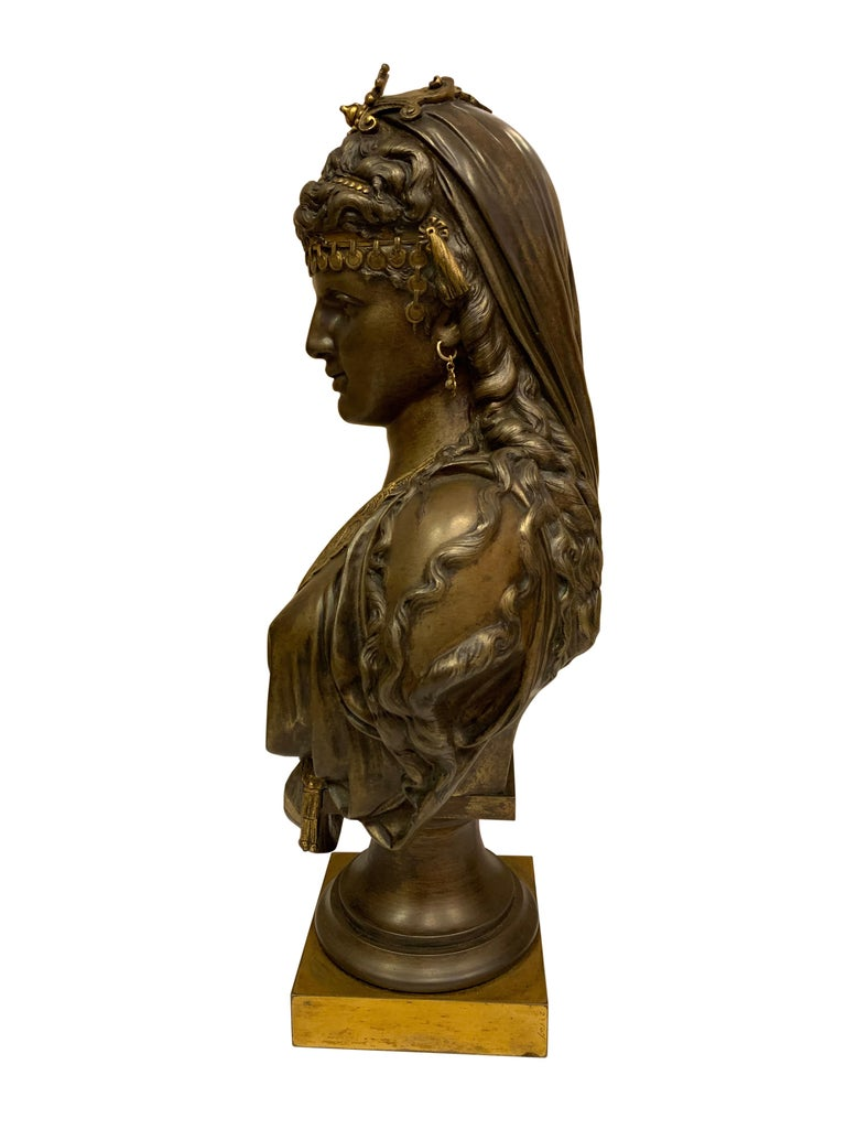 Pair of 19th Century Orientalist Bronze Busts For Sale 2