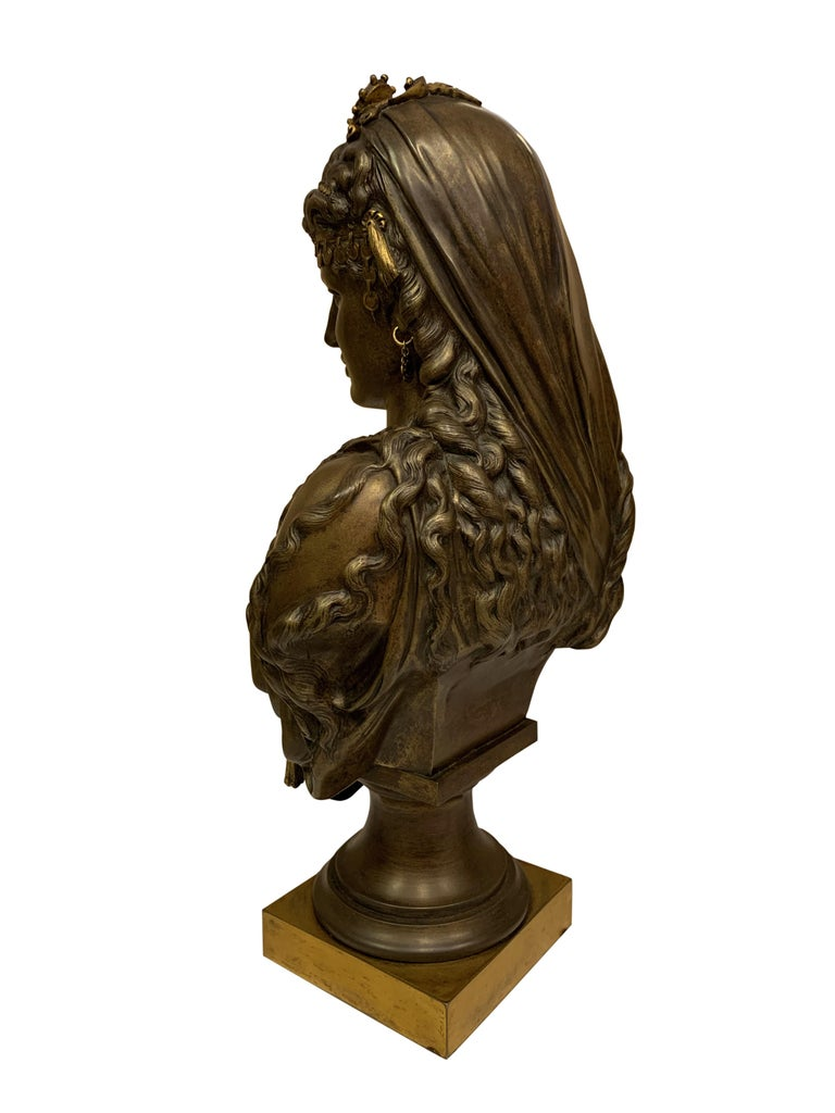 Pair of 19th Century Orientalist Bronze Busts For Sale 3