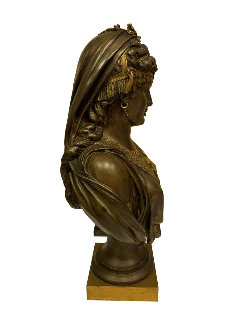 Pair of 19th Century Orientalist Bronze Busts For Sale 6