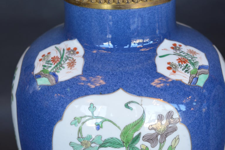 Pair of 19th Century Ormolu-Mounted Chinese Porcelain Vases For Sale 5