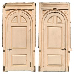 Pair of 19th Century Paneled Arched Top Doors from Manchester by the Sea, MA