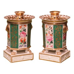 Pair of 19th Century Paris Porcelain Parfumiers